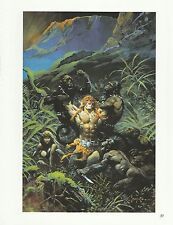 "1996 Full Color Plate /"" Tarzan Triumphant /"" by Frank Frazetta Fantastic GGA"