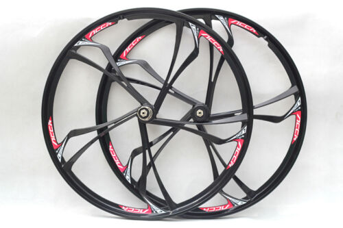 "White 26/"" MTB Bike Mag Magnesium Wheel Set Rims Disc Brake 8//9//10 Speed"