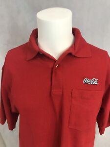Coca-Cola-Coke-Red-Cotton-Blend-Riverside-Work-Uniform-Pocket-Polo-Sz-Medium-NWT