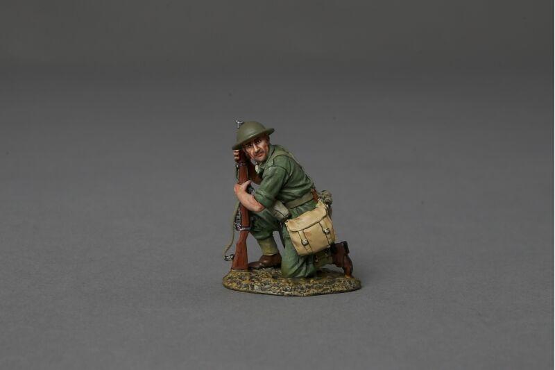 THOMAS GUNN RS038B - Allied Soldier Kneeling (Tin Lid) Painted Metal