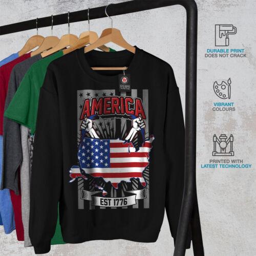 Nuevo Negro American Fashion Hombre Nation Sudadera q48vpw