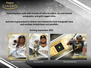 2021 Topps Gold Label Baseball Hobby Box Factory Sealed Hobby Box Pre Sale