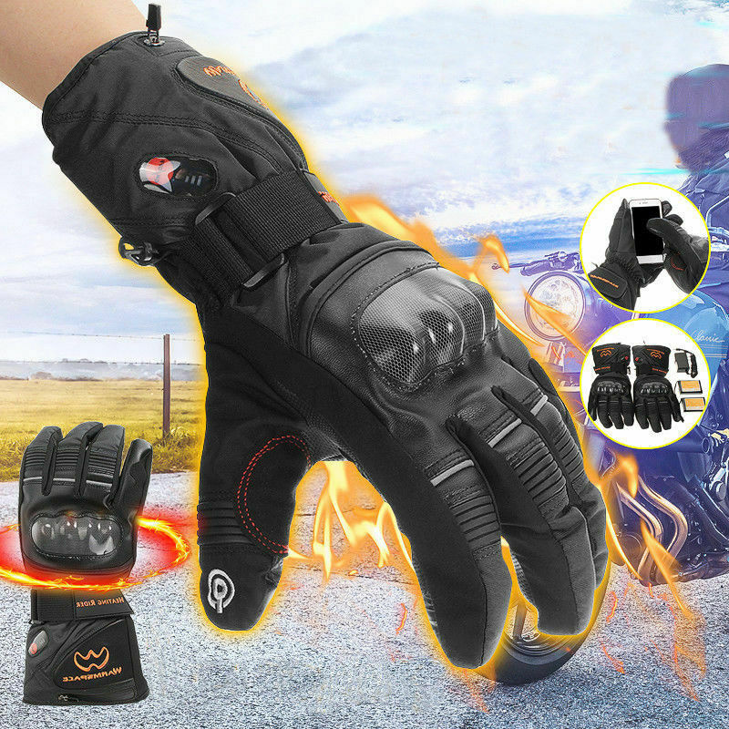 Motorcycle Heated Gloves Winter Warm Battery Electric Waterproof Skiing 2020.