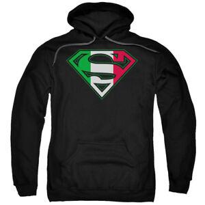 Superman-DC-Comics-Italian-Flag-Shield-Adult-Pull-Over-Hoodie
