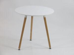 Designer Tisch Rund esstisch buche tisch rund dm 70 cm mdf designertisch retro weiss