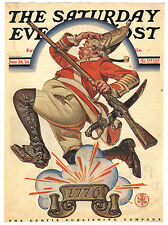 Rare Orig VTG 1930 Saturday Evening Post, Independence Day Cover Only Art Print