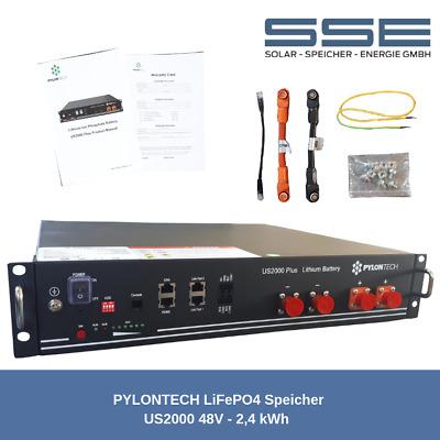 1x PYLONTECH US2000 Plus LiFePO4 48V 2,4kWh Lithium Photovoltaik Speicher System