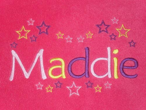 multicolore nom et étoiles execell cadeau l@@k!! Couverture polaire bébé personnalisé