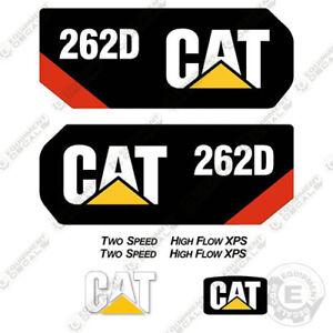 Caterpillar 262D Kit de Pegatinas Minicargadora Equipamiento Calcamonías