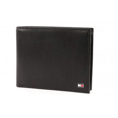TOMMY HILFIGER Eton Trifold Wallet Geldbörse Portemonnaie Black Schwarz Neu