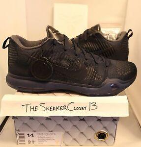 b42cafd1d019 New DS Nike Zoom Kobe X 10 FTB Sz 14 fade to black mamba pack dark ...
