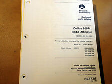 Collins 860F-1 Radio Altimeter Parts manual