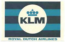 KLM  (Royal Dutch)  Airlines    Vintage-Looking   Sticker/Decal/Luggage Label