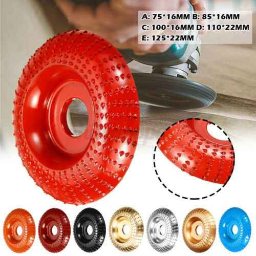 75mm-125mm Carbide Wood Sanding Carving Tool Shaping Disc Angle Grinder Wheel