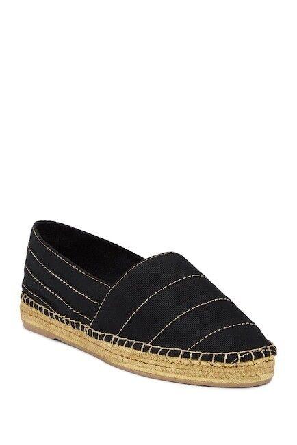 NIB $250 Marc Jacobs Sienna Espadrille Flat in Black / Gold Women's Size 37 & 38