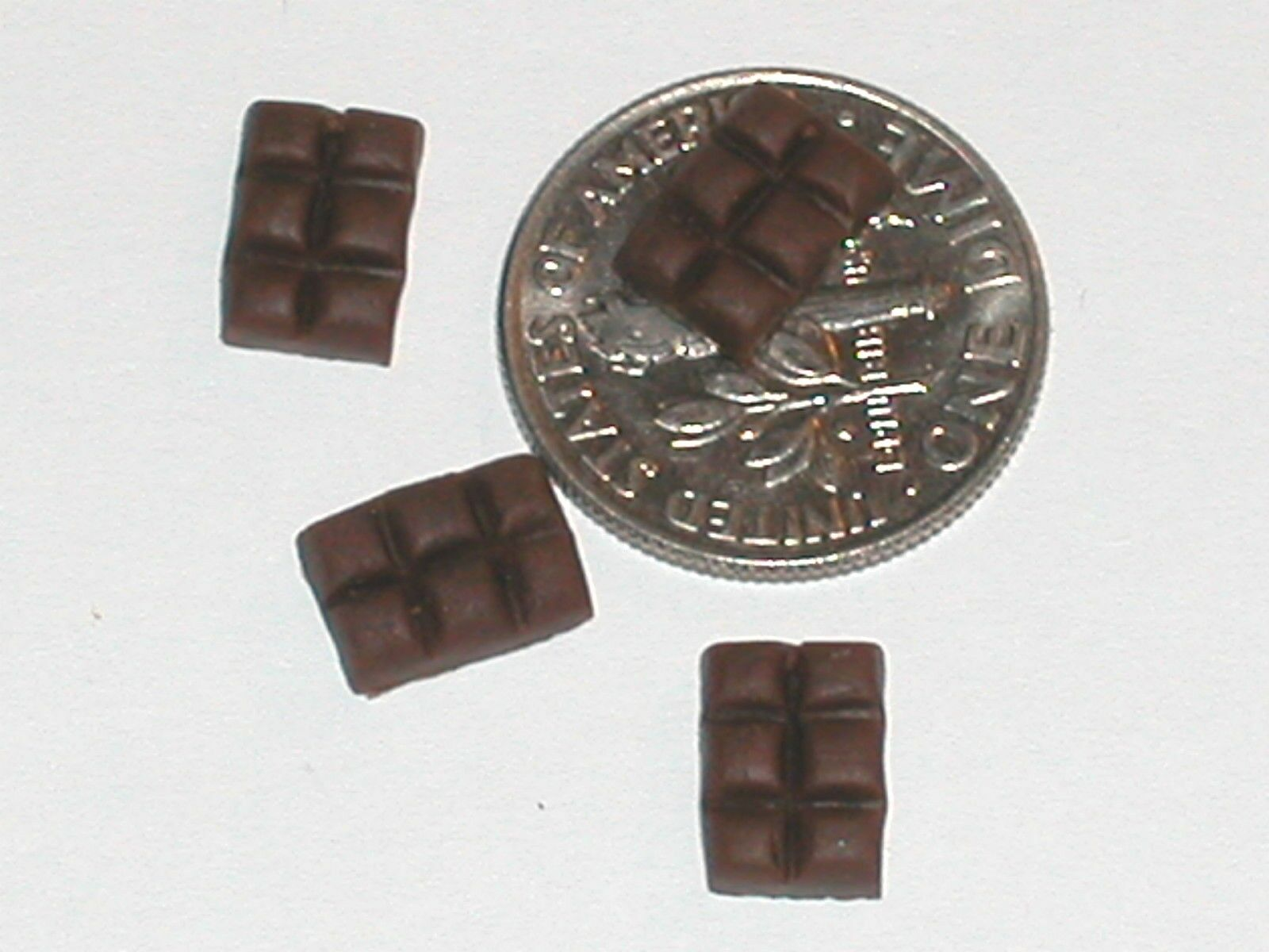 3 Pc Miniature dollhouse tiny christmas easter cookie fudge candy food charm New