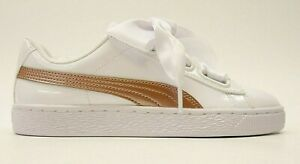 Details about Puma Womens Basket Heart Patent Copper Rose Laced Sneaker  Shoes US 6 EU 36