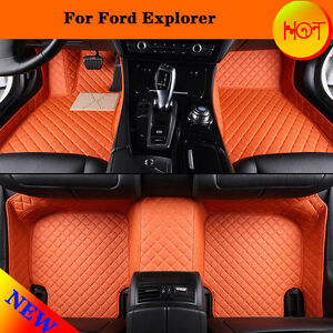 carpet leather for ford explorer 2007 2016 beyond car floor mat interior m99g ebay. Black Bedroom Furniture Sets. Home Design Ideas