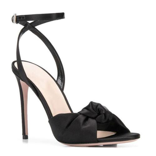 Womens High Stilettos Bowknots Slingback Sandals Peep Toe Heels Party Prom Shoes