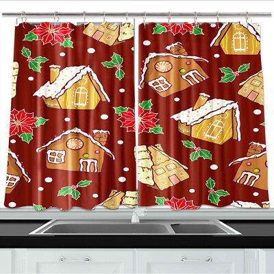 Gingerbread Houses Kitchen Curtains 2