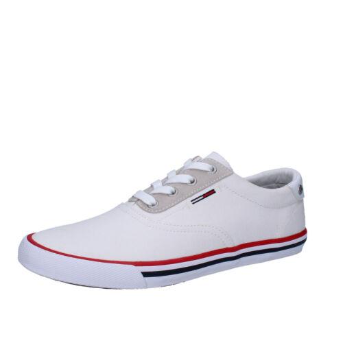 Bianco Uomo Eu Sneakers Tommy Hilfiger Tessuto Denim Ab947 d 42 Scarpe g0wqdZx0X