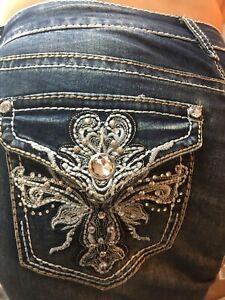 Bling decorato Short Plus Lis Jeans De Fleur Womens Boutique abbellito 18w 69 1AqHWw