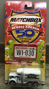 Matchbox-2001-Across-America-50th-Birthday-30-034-WISCONSIN-034-Peterbilt-New