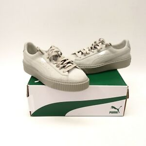 929f954479 New Puma Womens Basket Leather Suede Lace Up Sneaker Shoes Size Left ...