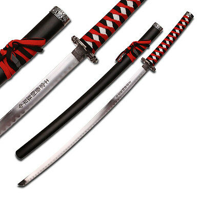 Dragon Samurai Katana Sword - Black and Red Cord Wrapped Handle SW68LBK-GB3