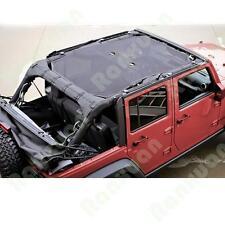 NEW Sun Shade Mesh Bikini Top Cover For Jeep Wrangler Unlimited JK 4-Door 07-16