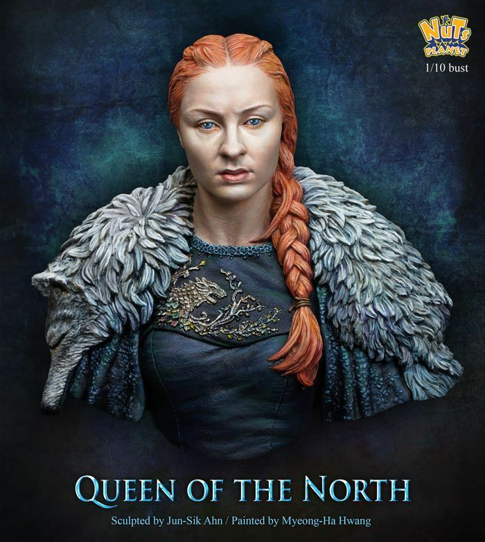 Nutsplanet Queen of the North Unpainted bust 1 10th scale kit