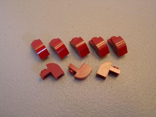 LEGO NEW Dark Red Brick Modified 1x2x1 1//3 Curved Top Lot x8 Round Creator 6091