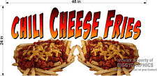 2' X 4' VINYL BANNER CHILI CHEESE FRIES NEW!