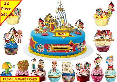 Incredible Jake The Neverland Pirates Ship Cup Cake Scene Topper Edible Funny Birthday Cards Online Inifodamsfinfo