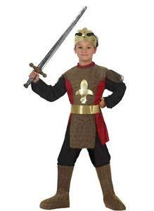 Costume-ROI-Medieval-10-11-12-ans-Deguisement-Enfant-Garcon-Chevalier-Arthur
