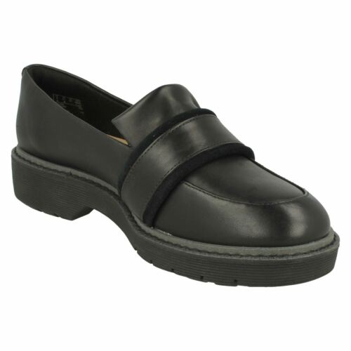 Ruby Shoes On Alexa Slip Chunky Clarks Black Ladies H0xfqEwC