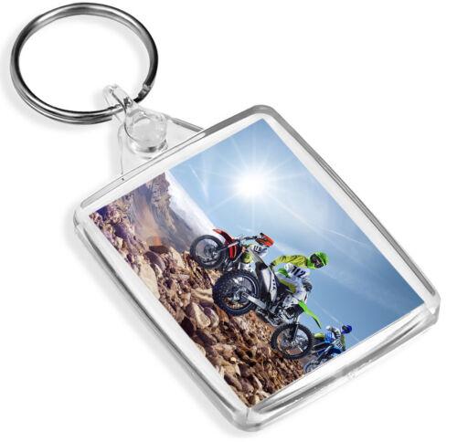 IP02 Motorbike Bike Biker Scramble Cool Gift #8570 Motorcross Keyring