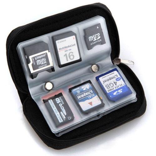 Bolsa de transporte de almacenamiento de información de tarjeta de Memoria Estuche Soporte Cartera Para CF//SD//SDHC//MS//DS