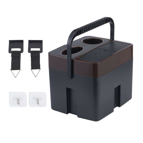 Portable Multi-functional Car Interior Trash Can Storage Box Beverage Cup Holder