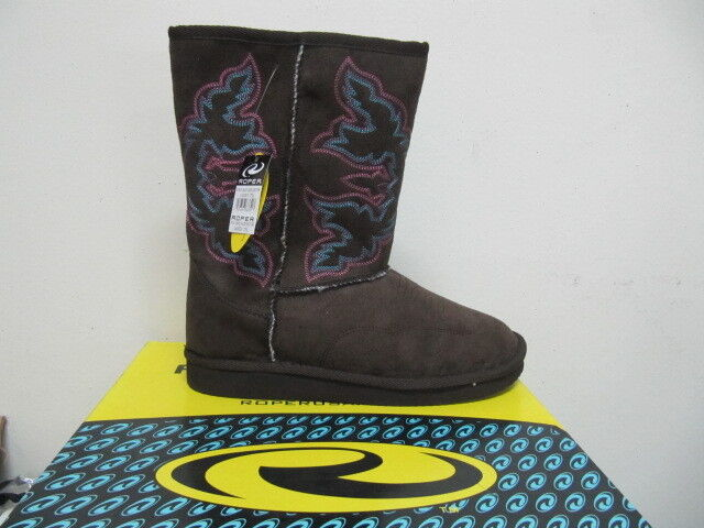 ROPER - Women's Ugg Boots - Faux Shearling Lined - Brown - ( 21532697 ) - New