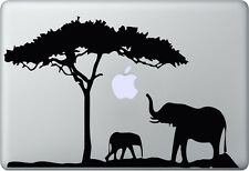 Apple MacBook Air Pro + ELEFANT + Aufkleber Sticker Decal Skin + Afrika Africa