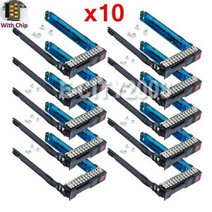 10Pcs-2-5-034-651687-001-SFF-SAS-HDD-Tray-Caddy-For-HP-Proliant-DL380p-G8-w-IC-Chip