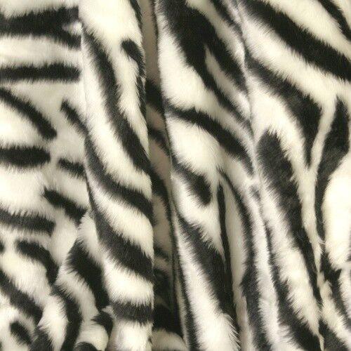 Plüschstoff Kunstfell 14mm Flor ZEBRA schwarz weiß Afrika Safari Cosplay Kostüm