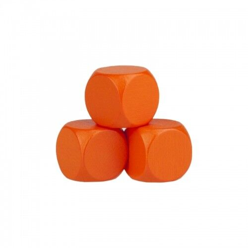 Dés Vierges - 16mm Bois Orange