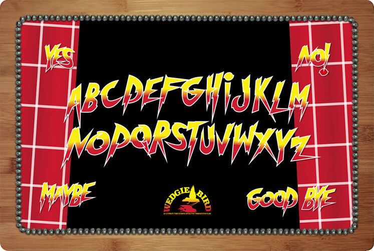 Rowdy Roddy Piper Hot Rod  theme ouija spirit board by Wedgie Bird