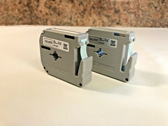 QTY. 2 Genuine Brother P-Touch M Tape 9mm 3/8