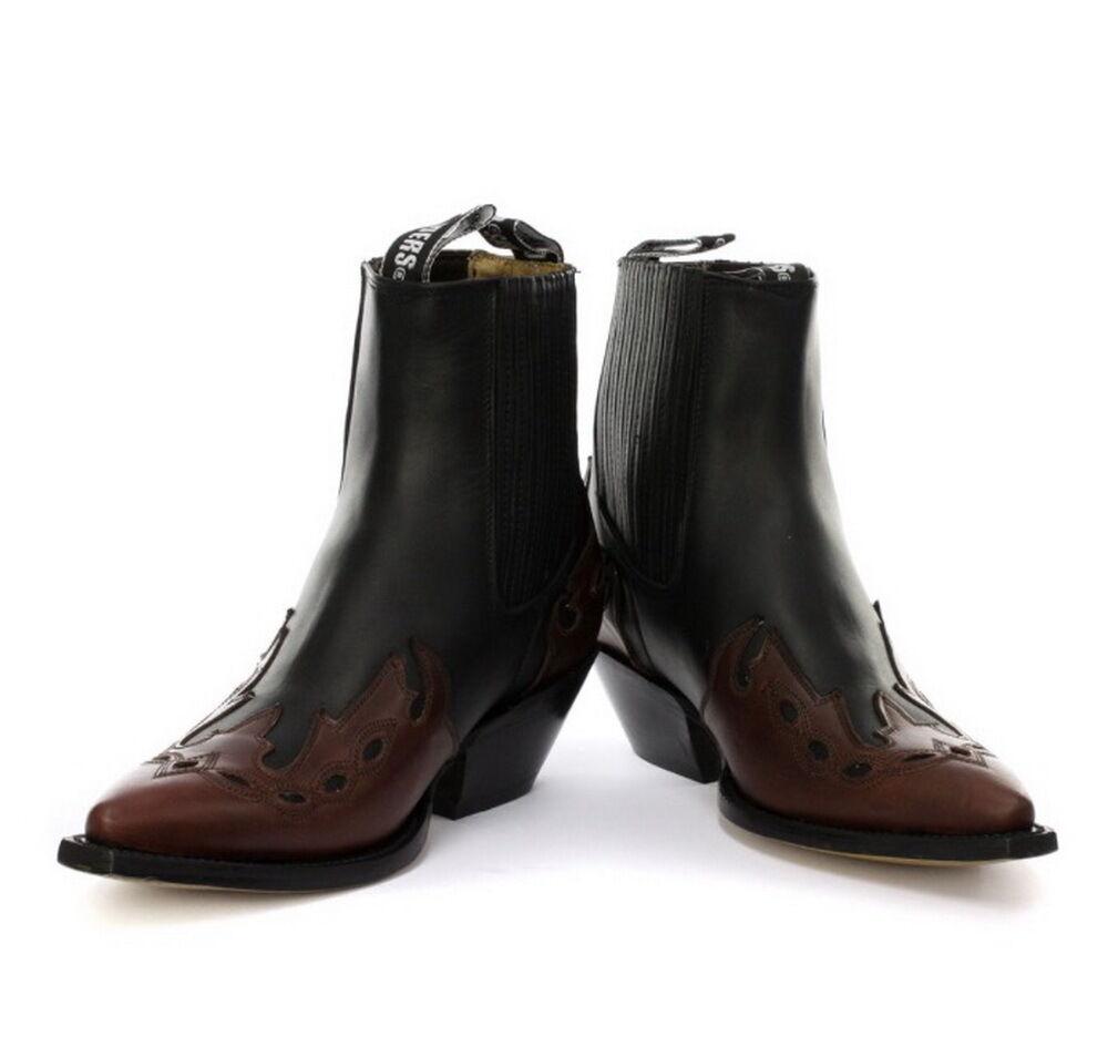 Grinders Niedrig Unisex black Burgund 100% Leder Cuban Heel Cowboystiefel