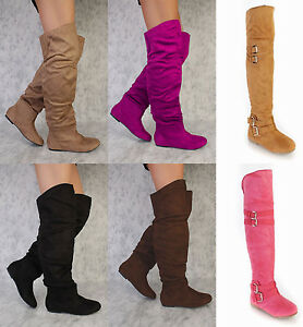 Image is loading NEW-Black-Camel-Pink-Brown-Round-Toe-Over-
