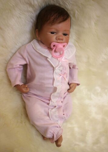 Reborn Toddler Girl Dolls 18/'/' Handmade Real Lifelike Baby Soft Silicone Vinyl