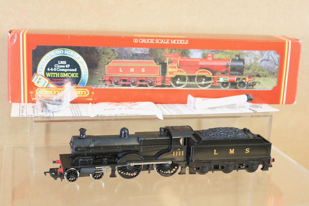 Hornby R376 Reacabados Lms Negro 4-4-0 Clase 4P Compuesto Locomotora 1111 NG